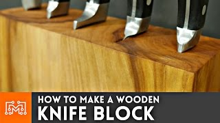 Download How to make a knife block (that can hold your cookbook) // Woodworking Video