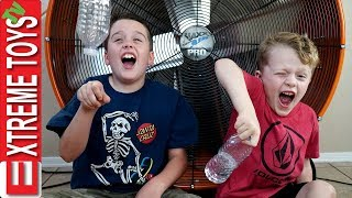 Download Extreme Toys Short: Epic Bottle Flip Challenge! Ethan Vs. Cole, and the Giant Hurricane Fan! Video