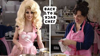 Download Miz Cracker Tries to Keep Up With a Professional Chef | Back-to-Back Chef | Bon Appétit Video