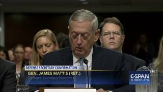Download Secretary of Defense Nominee Gen. James Mattis (Ret.) Opening Statement (C-SPAN) Video