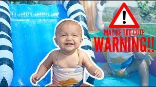 Download BABY TWINS SUMMER POOL SPLASH HAPPINESS (CUTENESS OVERLOAD) Video