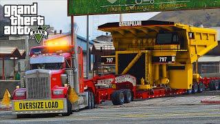 Download American Truck Simulator Heavy Haul Mod LSPDFR Escort in Grand Theft Auto V Online Video
