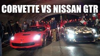 Download Corvette vs Nissan GTR $6000 POT Video