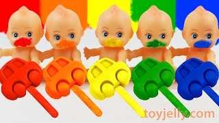 Download Learn Colors Ice Cream Cars Play Doh Popsicles Baby Doll Finger Family Song Nursery Rhymes Video
