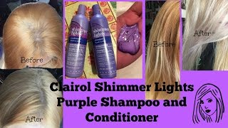 Download Clairol Shimmer Lights Purple Shampoo and Conditioner: Before and after Video