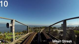 Download Top 17 roller coasters at Cedar Point Video
