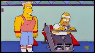 Download The Simpsons: Homer slims and gets muscles [Clip] Video