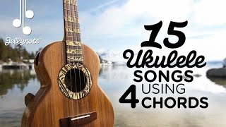 Download 15 Songs using 4 Chord shapes on Ukulele - Am F G C Video