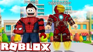 Download ROBLOX 2 PLAYER SUPERHERO TYCOON with MY LITTLE BROTHER! Video