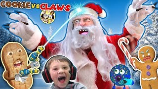 Download ANNOYING COOKIES vs CLAWS! Chase vs Duddz in Santa Claus invades Valentines Day (FGTEEV Skit/Game) Video
