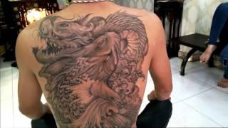 Download Hình xăm ca chep hoa rong va rồng 3D,Dragon Tattoos 3D HoàngAnh TATTOO Cần Thơ Video