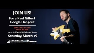 Download Rock Guitar Google Hangout with Paul Gilbert Video