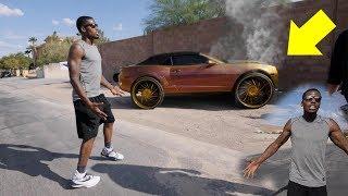 Download CRASHING CJ SO COOL CAR PRANK! ($100,000 CAR) Video
