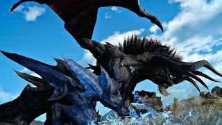Download FINAL FANTASY XV - Level 140 Dread Behemoth Boss Fight Gameplay   Strongest Boss in FF15 PS4 Pro Video