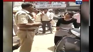 Download Watch LADY SINGHAM beat drunk police officer Video