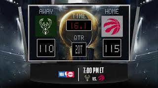 Download Bucks @ Raptors LIVE Scoreboard - Join the conversation & catch all the action on #NBAonTNT! Video