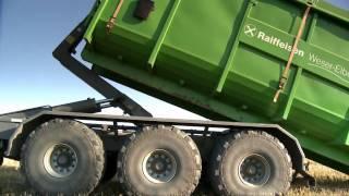 Download Krampe Hakenlift THL 23 bei der Getreide Ernte mit Claas Axion 820 Video