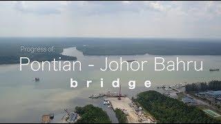 Download Pontian - Johor Bahru Bridge Project - Progress as 19 March 2018 Video