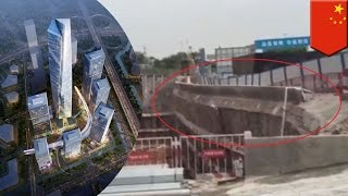 Download Chinese construction fail: Collapse at billion dollar site in Shenzhen caught on video - TomoNews Video