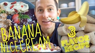 Download Secret To Making The BEST Banana Nice Cream🍌🍦Berry🍓Mint🌿& Chocolate🍫 Video