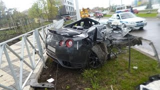 Download Nissan GT-R (r35) Crashes | Аварии Ниссан GT-R (r35) part 2 Video
