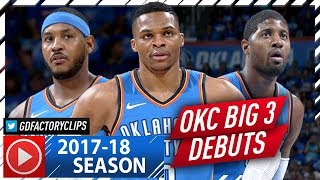 Download Russell Westbrook, Carmelo Anthony & Paul George Highlights vs Knicks (2017.10.18) - OKC BIG 3 Debut Video