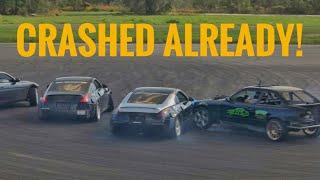 Download BUDGET 350Z FIRST TANDEM CRASH! Video