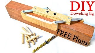 Download Self–Centering Doweling Jig / FREE PLANS Video