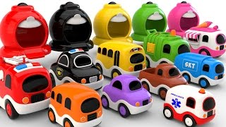 Download Colors for Children to Learn with Street Vehicles - Colours and Numbers Videos Collection Video