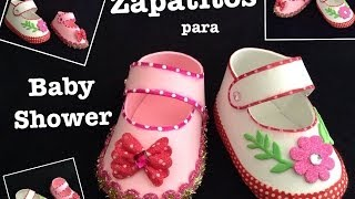 Download ZAPATITOS DE NIÑA PARA BABY SHOWER CON FOAMY O GOMA EVA . Video