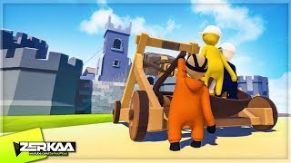 Download CATAPULTING INTO THE CASTLE! (Human Fall Flat) Video