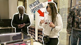 Download WEARING FAKE GUCCI TO THE GUCCI STORE PRANK Video