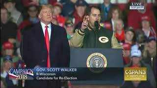 Download Scott Walker shamelessly lies about protecting pre-existing conditions during Trump rally Video
