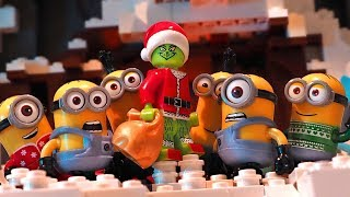 Download Grinch and Minions - Lego Stop Motion Video