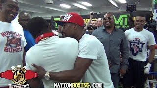 Download (YOU WONT BELIEVE THIS) BRONER INVADES PORTERS WORKOUT AND MAYWEATHER BREAKS THEM UP Video