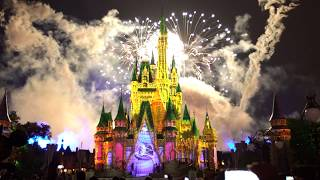 Download 4K Happily ever after fireworks Partners Statue Magic Kingdom 2017 Video