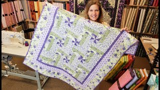 Download Such an Easy Modification... Let's Make a Pinwheel Rail Fence! | Florentina Rose Quilt Giveaway :) Video
