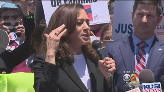 Download Sen .Harris 'Distrubed' By What She Saw At Immigration Detention Center Video