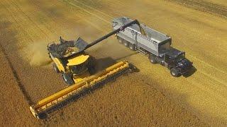 Download New Holland CR 10.90 TT- Der größte Rotor-Mähdrescher der Welt-12,5m-Getreideernte-barley harvester Video