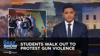 Download Students Walk Out To Protest Gun Violence | The Daily Show Video