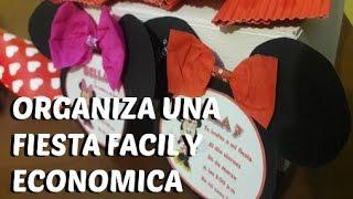 Download Ideas fáciles y económicas para fiesta de Minie o Mickey Disney / Easy ideas for Minie Disney party Video