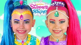 Download Shimmer and Shine Kids Makeup & DRESS UP Costumes PRINCESS Pretend Playing with Surprise Toys & Doll Video