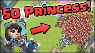 Download 50 PRINCESSES! World Record! Clash Royale - Most Princess on Map & NEW UPDATE CHANGES Video