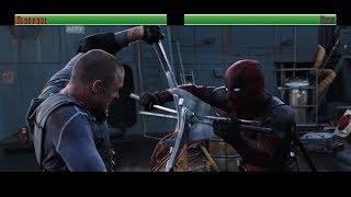 Download Deadpool vs Ajax...with healthbars Video