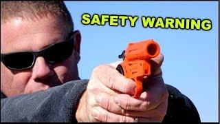 Download Live Shotgun Shell in flare pistol - What happens? Video