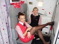 Download Hot Air Stewardess in Tights, Pantyhose & Nylons Video