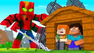 Download Minecraft - SPIDERMAN.EXE BASE CHALLENGE - Spider Man is EVIL! (Base vs Spiderman) Video