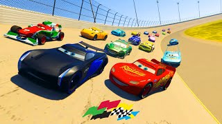 Download Race Cars Daytona McQueen Jackson Storm Francesco The King Chick Hicks Cruz and Friends & Songs Video