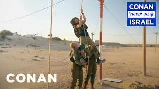 Download Conan Trains With The Women Of The Israel Defense Forces - CONAN on TBS Video