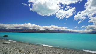 Download 4K ″Dazzling Blue Lakeshore″ New Zealand's Bluest Lake 1HR Nature Relaxation™ Scene Video